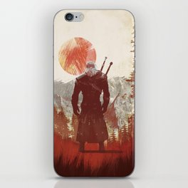 The Witcher Geralt variation print iPhone Skin
