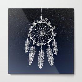 dreamcatcher night sky indigo constellations Metal Print