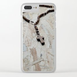 Wooden rosary Clear iPhone Case