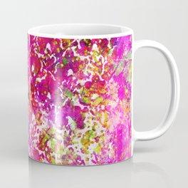 Fuchsia Watercolor Abstract Painting Boho Style Arabesque Coffee Mug