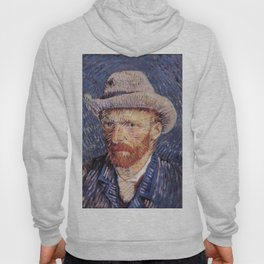 Self-Portrait with Grey Felt Hat by Vincent van Gogh Hoody