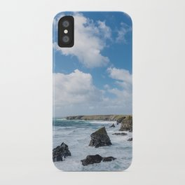 Bedruthan Steps Newquay Cornwall iPhone Case