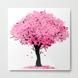 Sakura Tree Metal Print