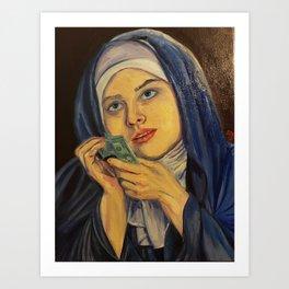 Wet Dirty Holy Sister Art Print