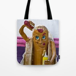 Hot Dog Dressing Up Tote Bag