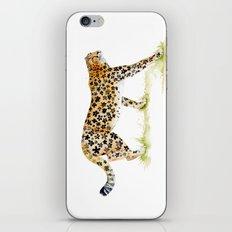 Flower Pattern Cheetah iPhone & iPod Skin