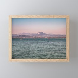 Lake Garda riviera / Italy / Pink&Blue Framed Mini Art Print