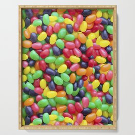 Jelly Bean Candy Photo Pattern Serving Tray