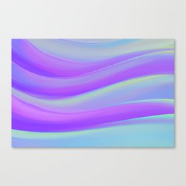 cold blue and violate colorful wavy abstract mixer brush Canvas Print