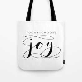 Today I Choose Joy wood sign, farmhouse decor, rustic, vintage, Bible verse, home and living Tote Bag