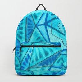 Blue hexagon Backpack