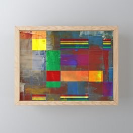Mid-Century Modern Art - Rainbow Pride 2.0 Framed Mini Art Print