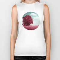moulin rouge Biker Tanks featuring ARBRE ROUGE by INA FineArt