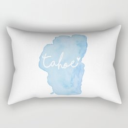 Shoreline Shape of Lake Tahoe  Rectangular Pillow