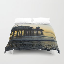 Paignton Pier At Sunrise Duvet Cover