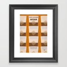 No383 My Arthur minimal movie poster Framed Art Print