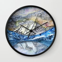 The Maroon Bells Meets  the Sky Wall Clock