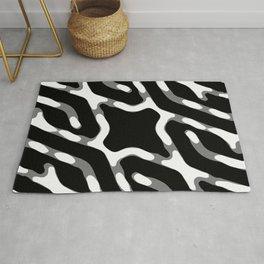 Dark Geometric Print Rug