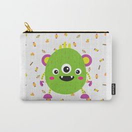 A litle green montr Carry-All Pouch