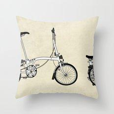 Brompton Bicycle Throw Pillow