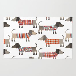 Sausage Dogs in Sweaters Rug