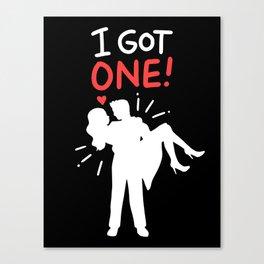 I got one! Funny Wedding Bachelor Party Bachelorette Gift Canvas Print