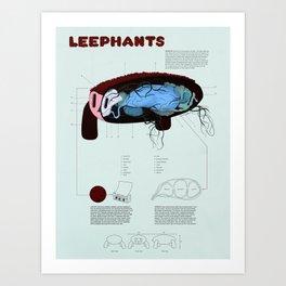 Leephants Art Print