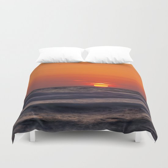 orange evening Duvet Cover