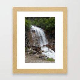 Klondike Waterfall Framed Art Print