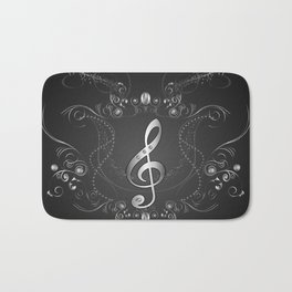 Clef with floral elements Bath Mat