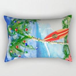Beach Christmas Rectangular Pillow
