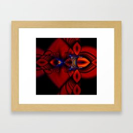 Ruby Abstract Stained Glass Window Framed Art Print