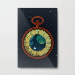 Cosmic Pocket Watch Metal Print