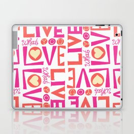 Live What You Love: White/Pink/Coral Laptop & iPad Skin