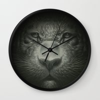tiger Wall Clocks featuring Tiger by Dr. Lukas Brezak