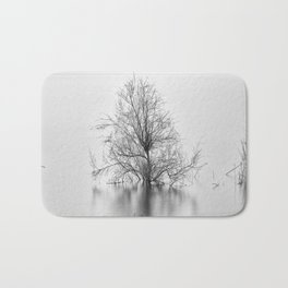 """Peace Tree"". Sunrise at the lake Bath Mat"