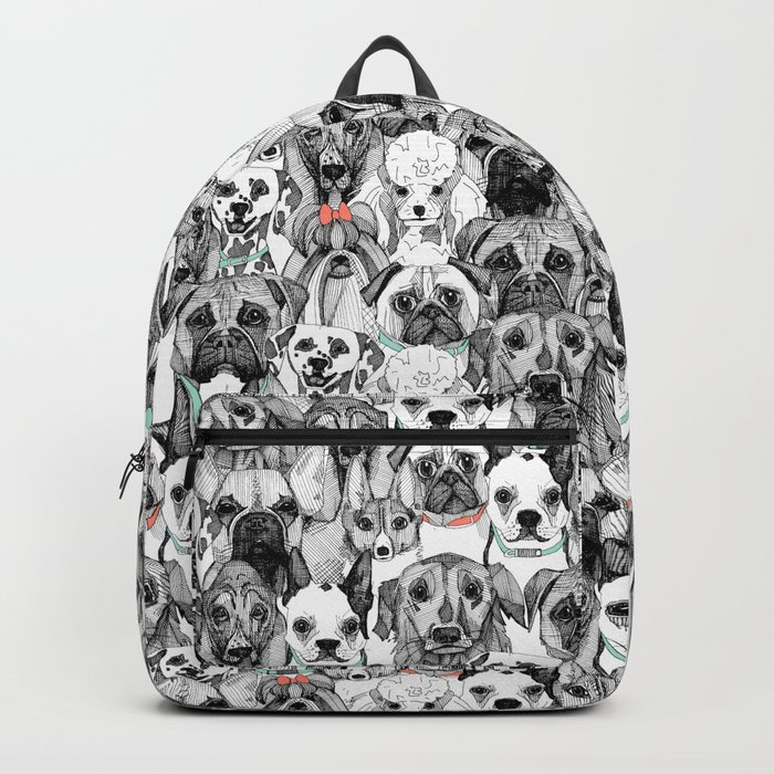just dogs coral mint Backpack