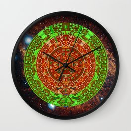 Aztec of nebula Wall Clock