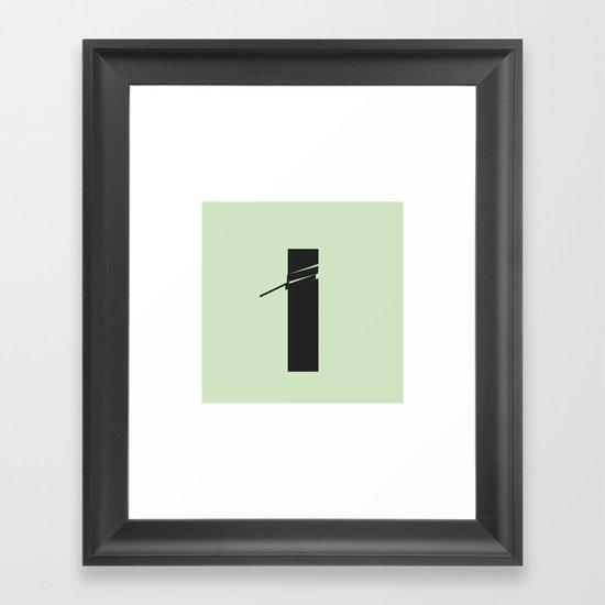 #86 Cut – Geometry Daily Framed Art Print