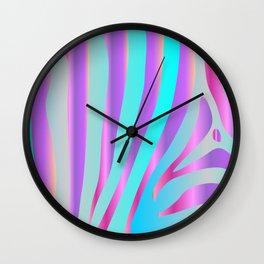 Iridescent Zebra Wall Clock