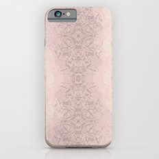 Floral Lace // Pink Semi-Circles Slim Case iPhone 6s