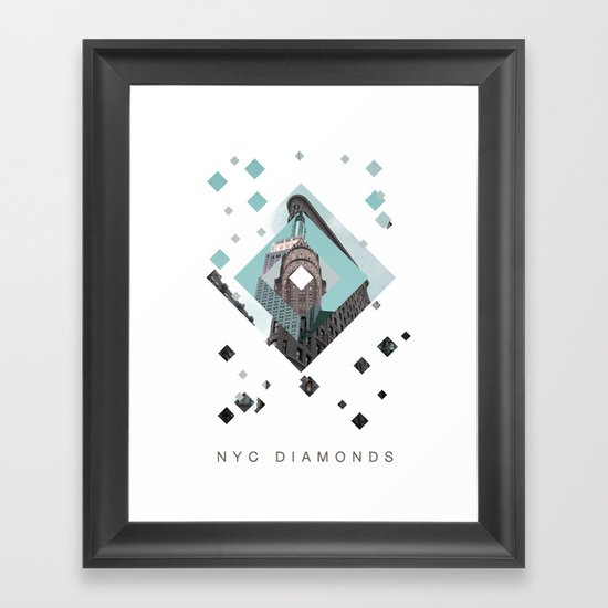 New York City Diamonds Framed Art Print