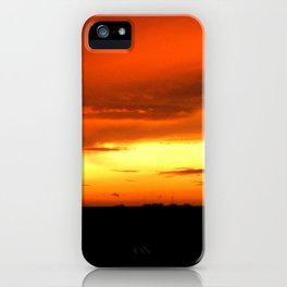 Sunset Over The Fields iPhone Case