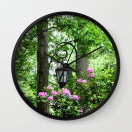 Lamppost Pink Wall Clock