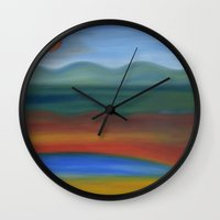 france Wall Clocks featuring France by Louvretta