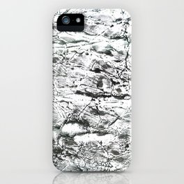 Gray marble watercolor iPhone Case