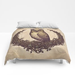 Owl Hedera Moon Comforters
