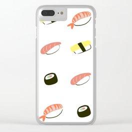 Cutie Sushi Clear iPhone Case