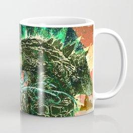Cthulhu vs Godzilla Coffee Mug
