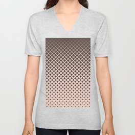 Brown diamonds with tan background geometric pattern Unisex V-Neck